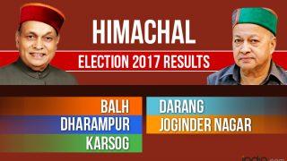Balh, Darang, Dharampur, Joginder Nagar, Karsog Election 2017 Results Live News Updates: BJP Wins Four Seats; Independent Claims One