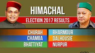 Churah, Bharmour, Chamba, Dalhousie, Bhattiyat And Nurpur Election 2017 Results News Updates: Counting For Vidhan Sabha Seats in Himachal Pradesh