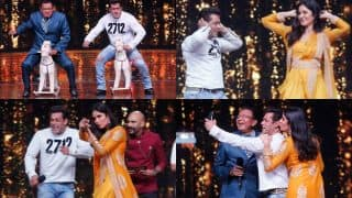 Salman Khan Shows Off His Goofy Side With Mithun Chakraborty And Katrina Kaif On The Sets Of Dance India Dance