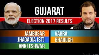 Jambusar, Vagra, Jhagadia (ST), Bharuch, Ankleshwar Election 2017 Results Live News Updates: Counting for Bharuch District Vidhan Sabha Seats in Gujarat Begins