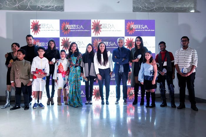 Jury Members - Anupama Dayal, Ashish Soni, Rajesh Pratap Singh and Anju Modi with the Winners at the event.