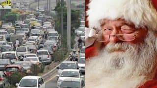 This Christmas, Santa Claus Will Spread Awareness About Road Safety In Gurugram