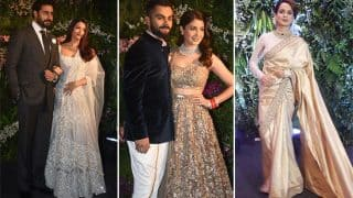 Virat Kohli - Anushka Sharma's Mumbai Reception: Aishwarya Rai Bachchan, Kangana Ranaut, Sara Ali Khan, Dhoni, Tendulkar And More Shine At The Big Night (PICS)