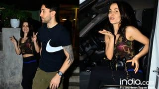 Ex Bigg Boss Contestant Elli Avram Spotted Outside A Mumbai Restaurant With A Mystery Man