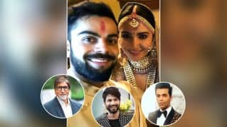 Anushka Sharma-Virat Kohli Married : Amitabh Bachchan, Shahid Kapoor, Karan Johar Congratulate The Couple On Twitter