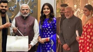 Anushka Sharma - Virat Kohli Delhi Reception: Prime Minister Narendra Modi Graces The Event To Congratulate The Couple