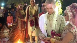 Aashka Goradia and Brent Goble's Wedding Is Straight Out Of A Bollywood Film (Watch Videos)