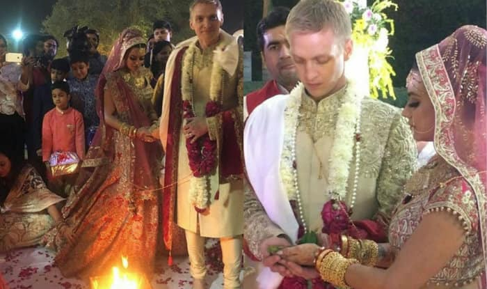 Inside Aashka Goradia-Brent Goble's white wedding