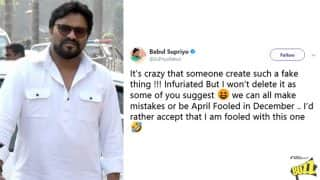 Babul Supriyo Tweets Fake WhatsApp Message on Twitter; Admits He was 'April-Fooled in December'