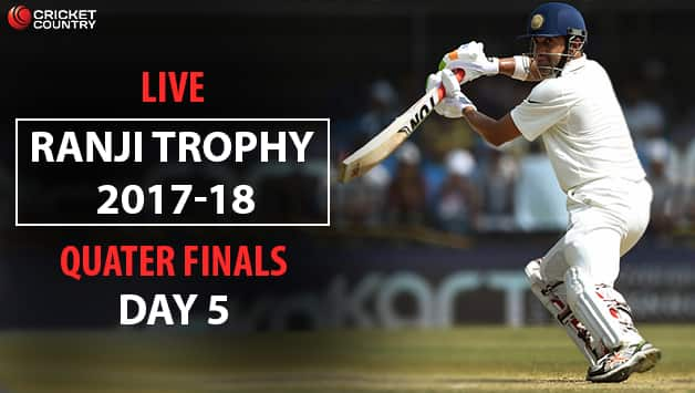 Live Cricket Score, Ranji Trophy 2017-18 Quarter-Finals