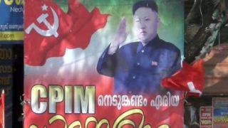CPM के पोस्टर में तानाशाह किम जोंग, BJP ने ली चुटकी- कहीं RSS पर मिसाइल न दाग दें?