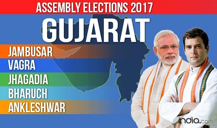 Jambusar, Vagra, Jhagadia, Bharuch, Ankleshwar Assembly Elections 2017