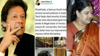 Pak Politician Imran Khan Confuses Jayalalithaa With Sasikala