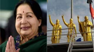 Jayalalithaa's First Death Anniversary: Massive Statues of Amma, MGR Installed Alongside Annadurai in Coimbatore