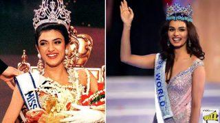 When Miss World 2017 Manushi Chhillar Bumped Into Miss Universe Sushmita Sen on Flight: Watch Video