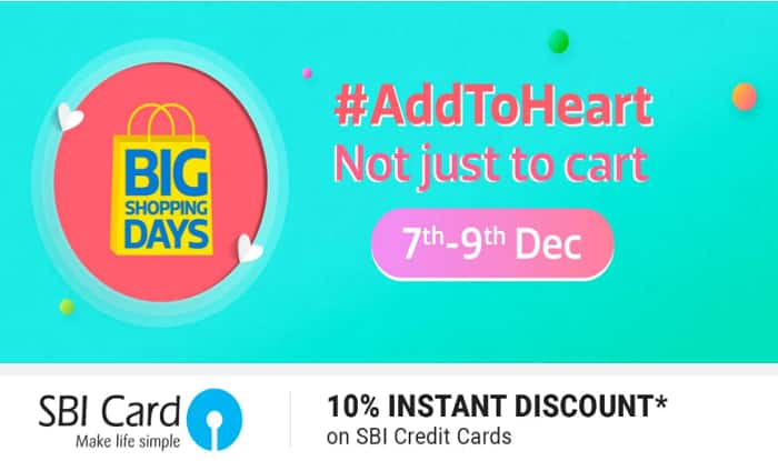 bb9897db971721 Flipkart Big Shopping Days 2017  Sale to Offer Heavy Discounts on ...