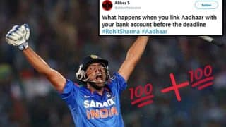 Rohit Sharma Scores Double Century, Government Removes Aadhaar Bank Account Linking Deadline, Twitter Comes Up With Hilarious Jokes