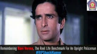 Mumbai Police Paid Tribute to Shashi Kapoor, Remembers Him As Ravi Verma from Deewar, Amassed Praises