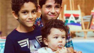 Taimur Ali Khan Plays With Christmas Cookies As Amrita Arora's Kids Happily Pose With Him On His Birthday