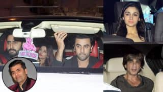 Karan Johar Christmas Bash : Ranbir Kapoor, Abhishek Bachchan-Aishwarya Rai Bachchan, Shah Rukh Khan, Alia Bhatt Make A Grand Entry To The Party -View Pics