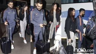 Anushka Sharma And Virat Kohli Look Super Happy As They Leave For South Africa For New Year – View Pics