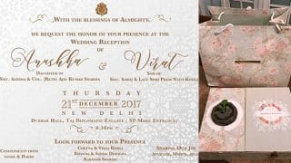 Anushka Sharma And Virat Kohli's Reception Invite Is As Beautiful And Classy As Their Wedding (View Pics)