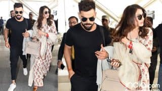Virat Kohli And Anushka Sharma Reception: After Partying Hard, Couple Spotted Hand-in-hand At Delhi Airport