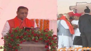 फिर से मुख्यमंत्री बने रूपाणी, लेकिन समारोह में छाये रहे पीएम मोदी