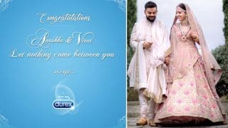 Durex Wishes Virat Anushka on Their Wedding; No Ban on Condom Ads on Social Media?