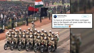 Republic Day 2018: All-Woman BSF Bikers Team 'Seema Bhawani' Showcase Daredevil Stunts; Twitter Erupts With Pride and Praise (Video)