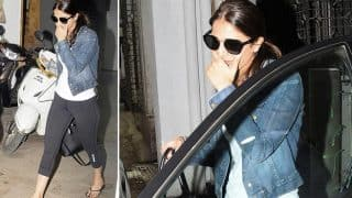 Vaani Kapoor Steps Out Of A Clinic, Makes A Failed Attempt At Covering Her Face (View Pics)