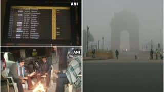 दिल्ली में घने कोहरे की वजह से 18 ट्रेनें रद्द, 17 फ्लाइटों का बदला समय