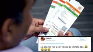 Oxford Dictionary Announces Aadhaar as its First Hindi Word of The Year; Twitterati Posts Hilarious Reactions