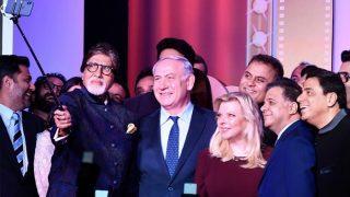 Amitabh Bachchan Recreates Oscar Selfie With Israeli PM Benjamin Netanyahu, Aishwarya Rai Bachchan, Karan Johar At Shalom Bollywood