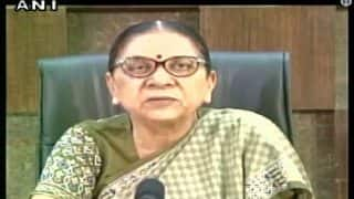 Anandiben Patel Appointed Next Governor of Madhya Pradesh