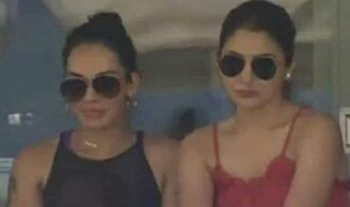 Image result for anushka sharma cheers husband virat kohli from the stands see