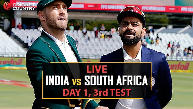 India Vs South Africa Live Cricket Score, 3rd Test Match