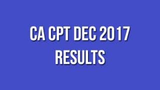 CA CPT Dec 2017 Results Declared on icaiexam.icai.org: Check Here