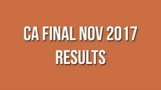 CA Final Nov 2017 Results Declared on icaiexam.icai.org: Check Here