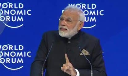 PM Modi in Davos: If You Want Wellness With Wealth, Come to India