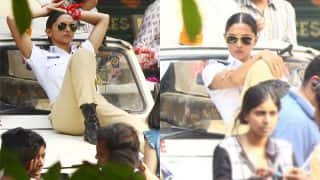 Deepika Padukone SPOTTED Shooting In The City Sporting A Tough Cop Look - View Pics