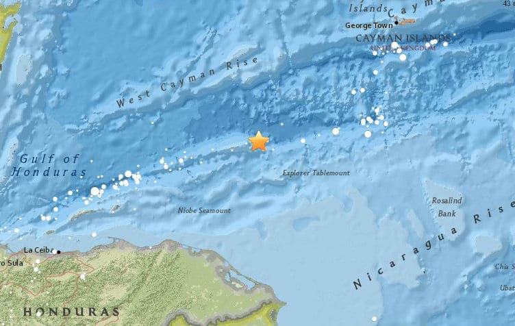 USGS: Magnitude 7.6 struck north of Honduras