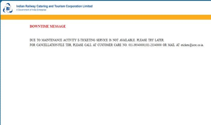 IRCTC Website Goes Down, Passengers Unable to Book Railway E-tickets