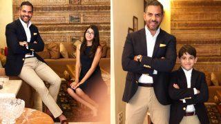 Karisma Kapoor's Children Samaira and Kiaan Pose With Daddy Sunjay Kapoor And We Can't Stop Gushing