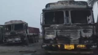 Maoist Attack in Telangana: Several Vehicles Set on Fire; One Killed, Another Injured