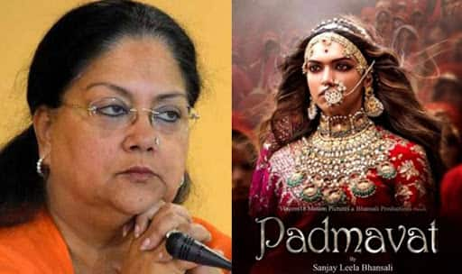'Padmavat' will not be released in Rajasthan: CM Vasundhara Raje