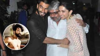 Did Shahid Kapoor Feel Left Out In The Company Of Sanjay Leela Bhansali, Deepika Padukone And Ranveer Singh ?
