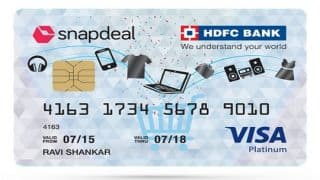 Snapdeal HDFC Bank Credit Card Crosses 1.5 Lakh Users