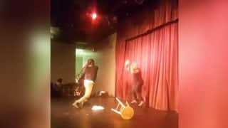 American Comedian Steve Brown Attacked on Stage by Audience Member, Escapes With A Scratch (Video)