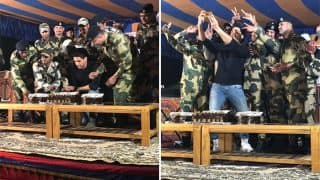 Sidharth Malhotra Celebrates Birthday With Team Aiyaary, Cuts Cake With 16 Jawans Sharing The Same Birth Date As Him